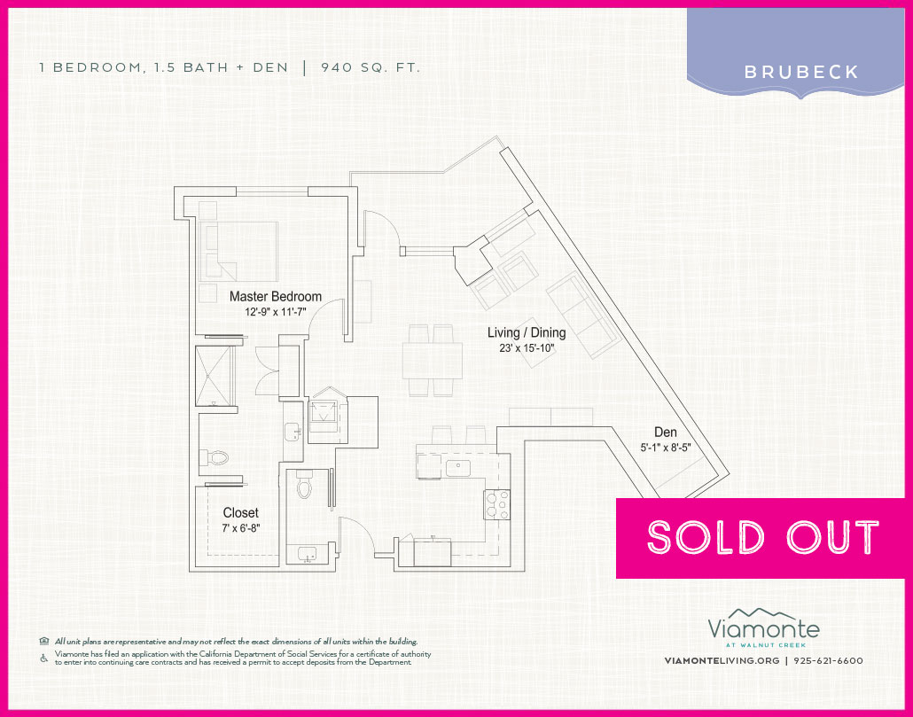 Viamonte - Floor Plan - Brubeck - SOLD OUT