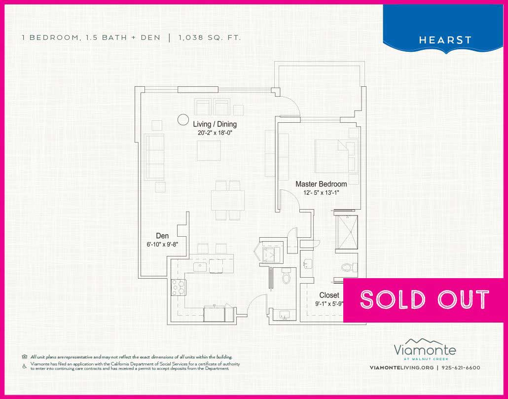 Viamonte - Floor Plan -Hearst- SOLD OUT