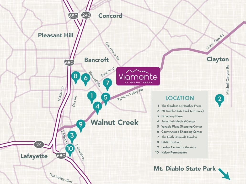 Nearby Walnut Creek Attractions Map