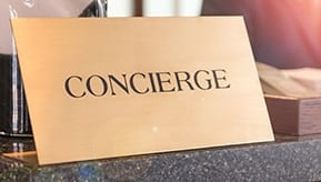 concierge desk plaque