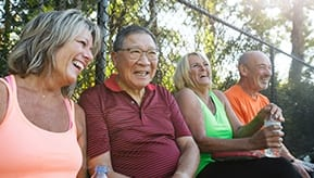 group of older adults at park